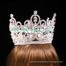 Bridal Rhinestone tiara silver tone clear Crystal crown